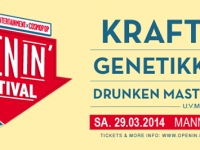 Openin' Festival 2014 mit Genetikk, Kraftklub und Lary