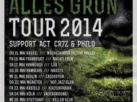 Greeen geht mit Cr7z auf Alles Grün-Tour